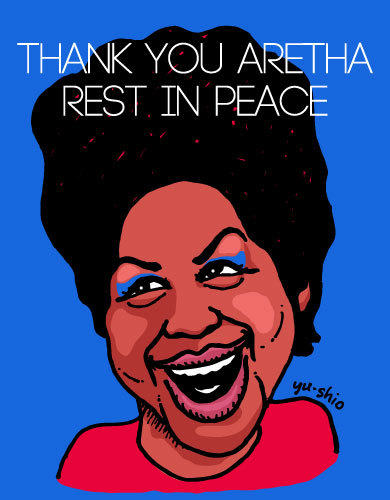 Aretha Franklin caricature likeness