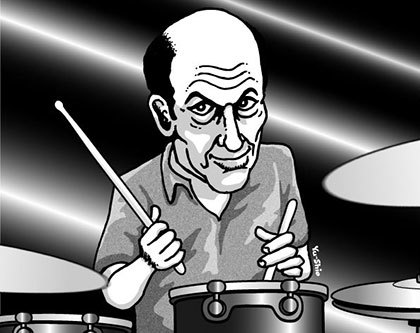 Greg Errico caricature likeness