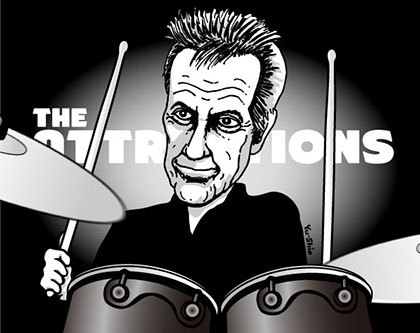 Pete Thomas Attractions Imposters caricature likeness