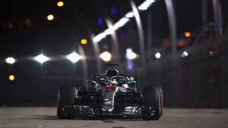 2018年F1第15戦 シンガポールGP、PPはハミルトン
