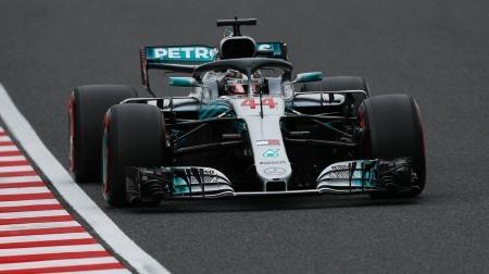 2018年F1第17戦 日本GP、PPはハミルトン