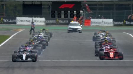 2018年F1第13戦のスタート