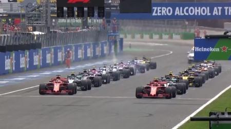 2018年F1第14戦のスタート