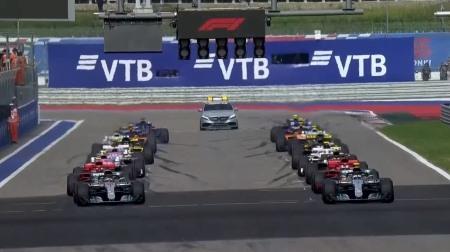 2018年F1第16戦のスタート
