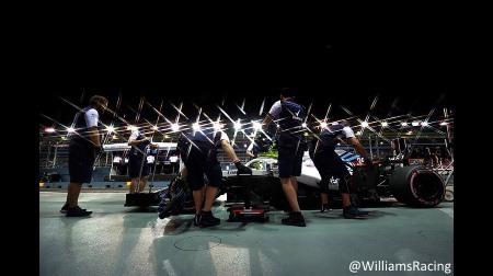 ウィリアムズが驚きの遅さ@F1シンガポールGP予選
