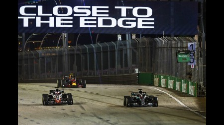 グロージャンが出場停止の危機@F1シンガポールGP