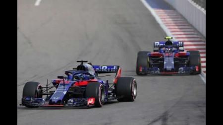 トロロッソ・ホンダ、2台ともブレーキトラブルでレース開始早々リタイア@F1ロシアGP