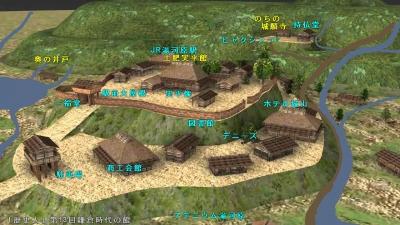 鎌倉時代 土肥館図