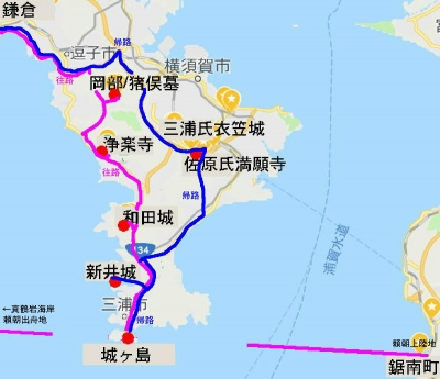 三浦半島拡大図