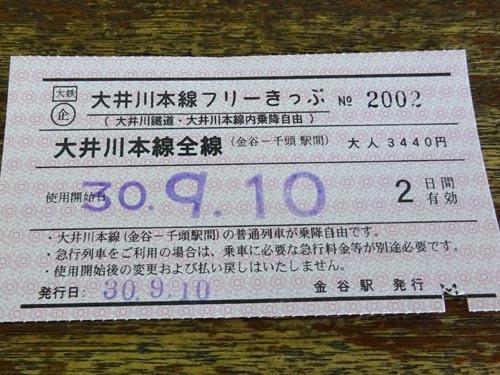 13大井川本線フリーきっぷ