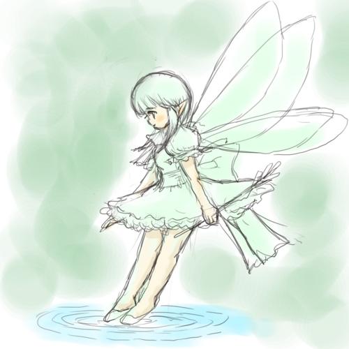 妖精(クリスタ習熟中)