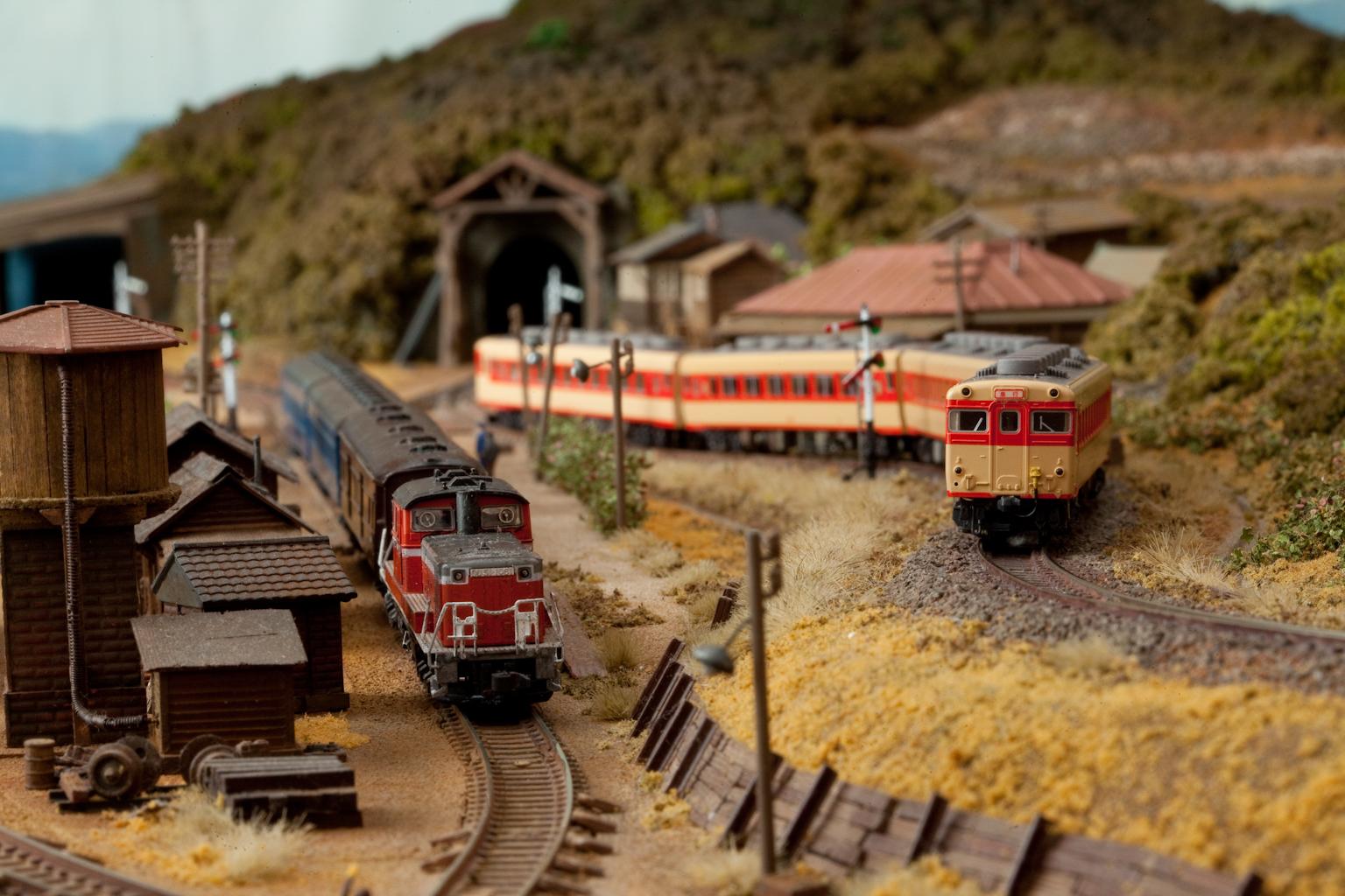鉄道模型モジュール スイッチバック駅