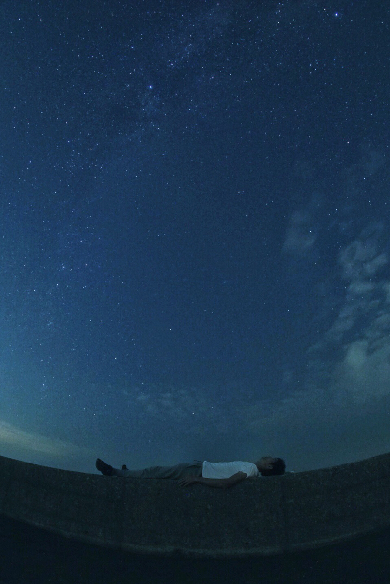 ペルセウス座流星群 2018 天の川と僕