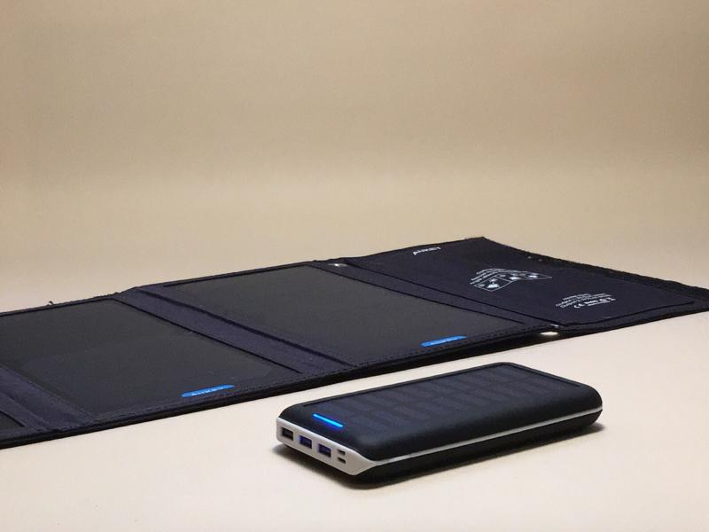 Alternative Life Tool #33 AUKEY 28W Solar Charger + KEDRON 25000mAh Solar charger Battery