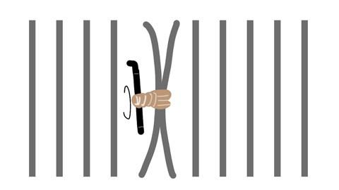 竹牢の抜け方