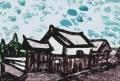 大石順教尼記念館カットアウト水彩風スポンジ