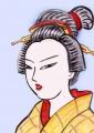 江戸美人画両国夕涼み (2)
