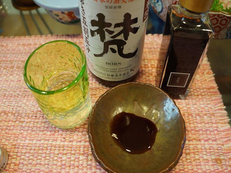 日本酒と美味しい醤油