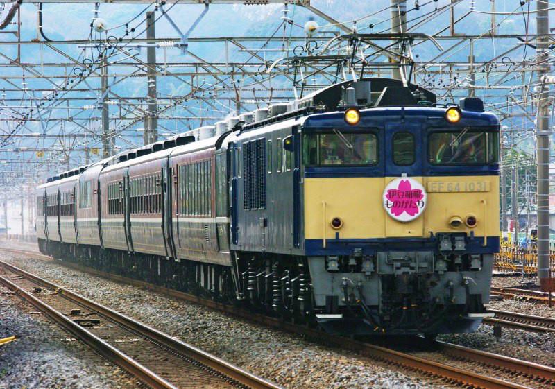 EF64-1000 東海道線 急行 伊豆・箱根ものがたり号 平塚 大磯 撮影地 続・シリウスの線路際のロマンを求めて