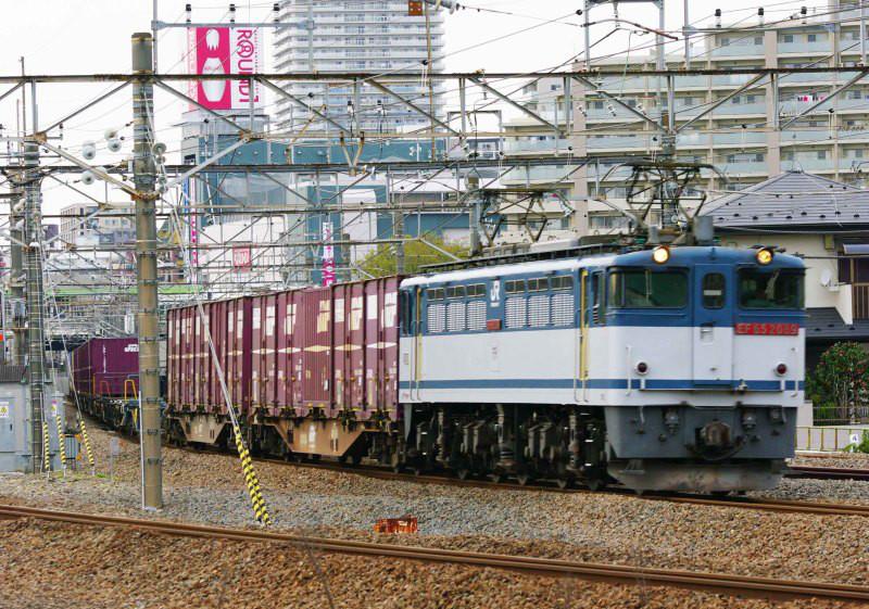 武蔵野線 府中本町 梶ヶ谷貨タ 74ㇾ EF65-2000 貨物撮影 撮影地