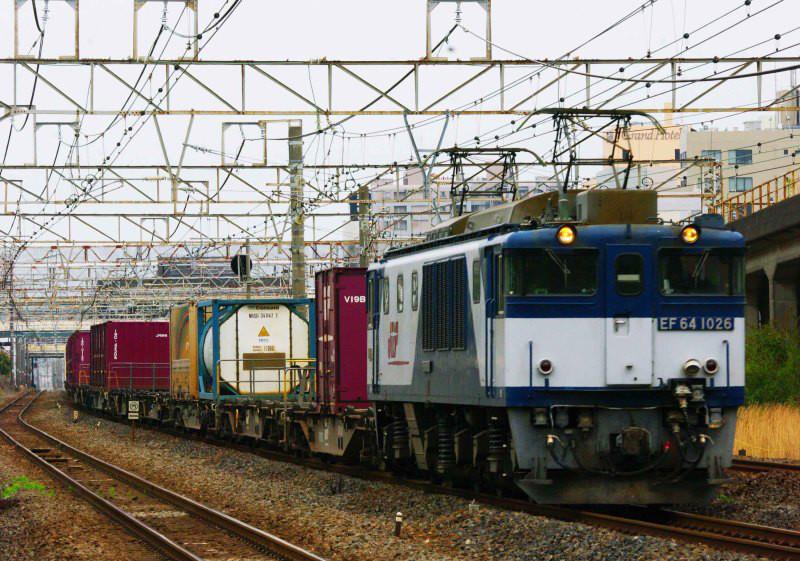 EF64-1000 3075ㇾ 平塚 大磯 東海道線 貨物列車 撮影地