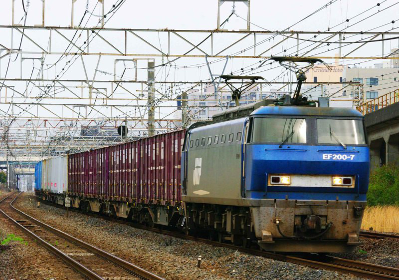 EF200 66代走 東海道線 平塚 大磯 5095ㇾ 貨物列車 撮影地