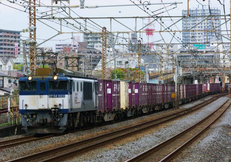東海道線 平塚 大磯 EF64-1000 3075ㇾ 撮影地 貨物列車 東海道熱海口貨物