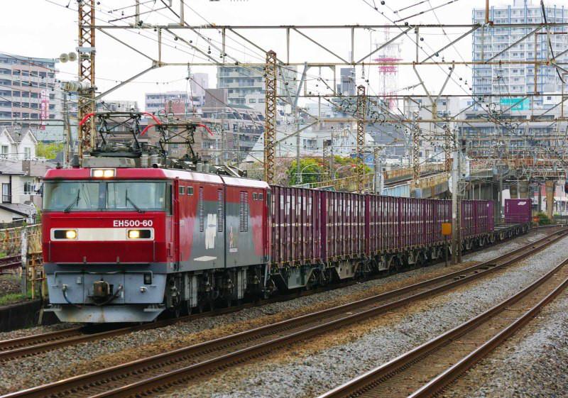 東海道線 平塚 大磯 EH500 金太郎 撮影地 貨物列車 ニューカマー 交直流機 赤い電機
