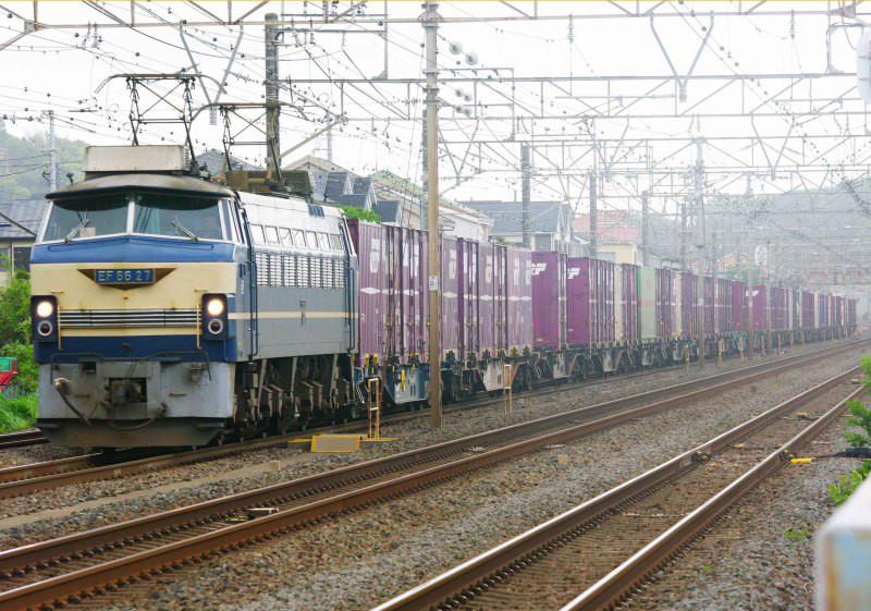 EF66-0 EF66-27号機 二宮 大磯 東海道線 貨物列車 ニーナ 東海道熱海口貨物 撮影地