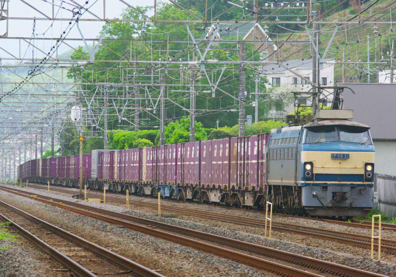 EF66-0 EF66-21 二宮 大磯 東海道線 撮影地 貨物列車 東海道熱海口貨物