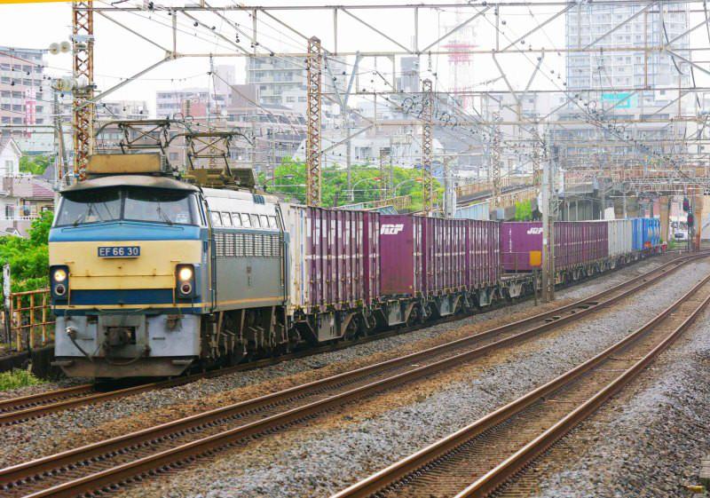 EF66-0 EF66-21号機 平塚 大磯 東海道線 貨物列車 撮影地 東海道熱海口貨物