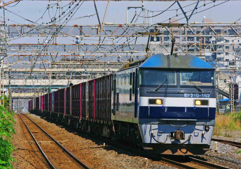 5075ㇾ EF210桃太郎 平塚 大磯 東海道線 撮影地 貨物列車 東海道熱海口貨物