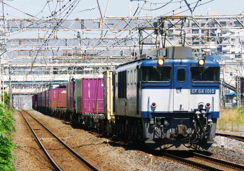 3075ㇾ EF64-1000 平塚 大磯 東海道線 撮影地 貨物列車 東海道熱海口貨物