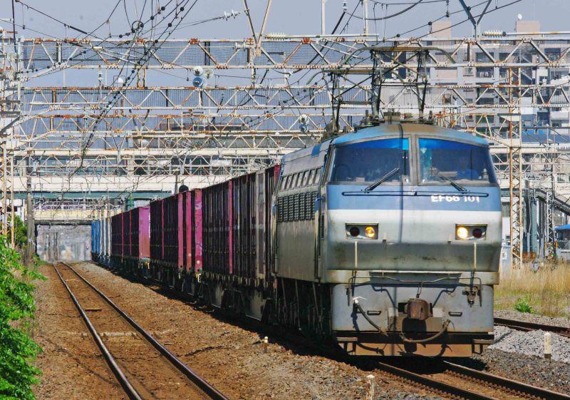 5095ㇾ EF66-100 相模貨物 サメ 平塚 大磯 東海道線 撮影地 貨物列車 東海道熱海口貨物