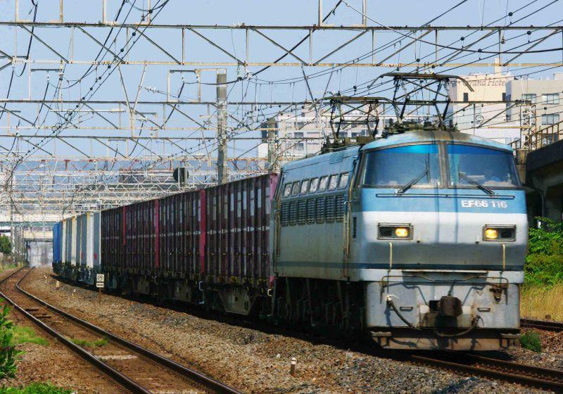 EF66-100 東海道線 平塚 大磯 東海道熱海口貨物 5095ㇾ 撮影地 貨物列車