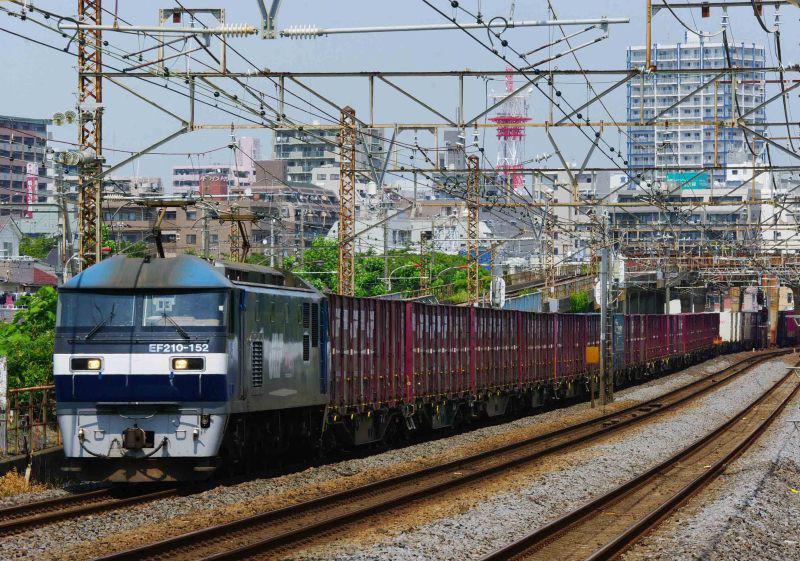 5075ㇾ EF210 桃太郎 東海道線 平塚 大磯 撮影地 貨物列車