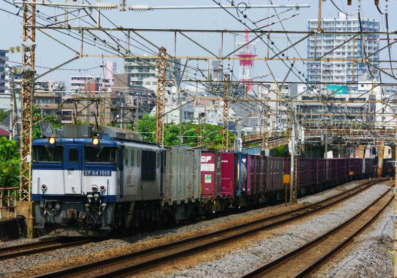EF64-1000 鹿島貨物 東海道線 モノサク 3075ㇾ 平塚 大磯 貨物列車 撮影地