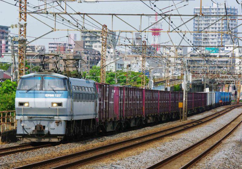 5095ㇾ EF66 東海道線 大磯 平塚 撮影地 貨物列車