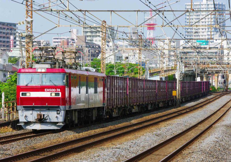 EH500 金太郎 平塚 大磯 東海道線 ニューカマー 2079ㇾ 貨物列車 撮影地