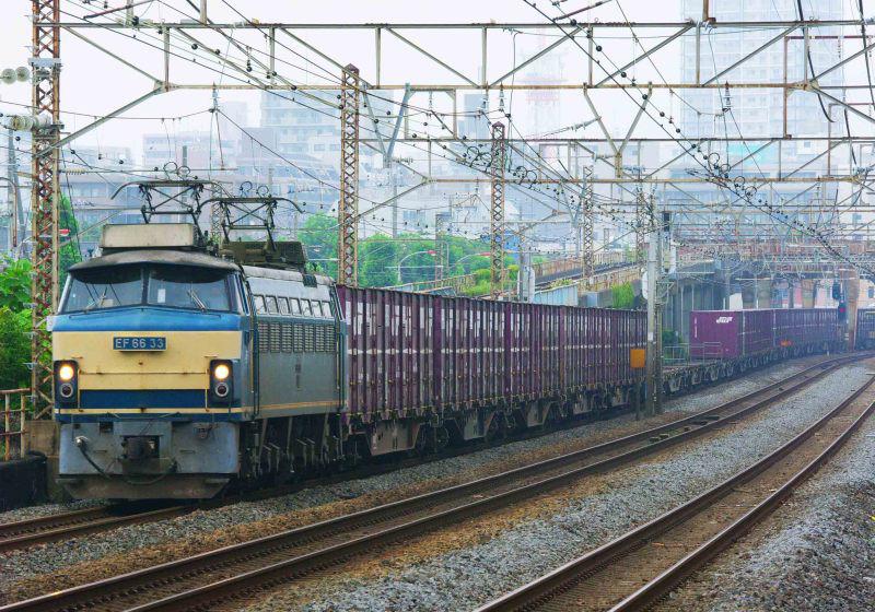 5097ㇾ EF66-0 33号機 EF66 東海道線 貨物列車 撮影地 平塚 大磯 平塚市 鍼灸マッサージ