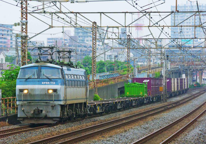 1155ㇾ EF66-100 サメ 貨物列車 撮影地 東海道線 大磯 平塚 平塚市 鍼灸マッサージ