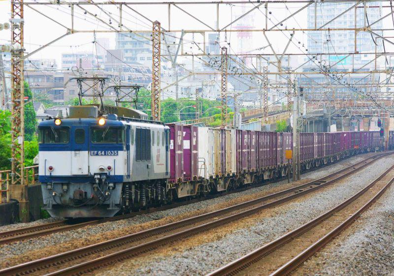 3075ㇾ 鍼灸マッサージ 平塚市 平塚 大磯 貨物列車 EF64-0000 東海道線 撮影地