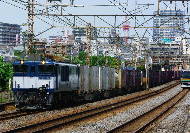3075ㇾ EF64-1000 大磯 平塚 東海道線 貨物列車 撮影地