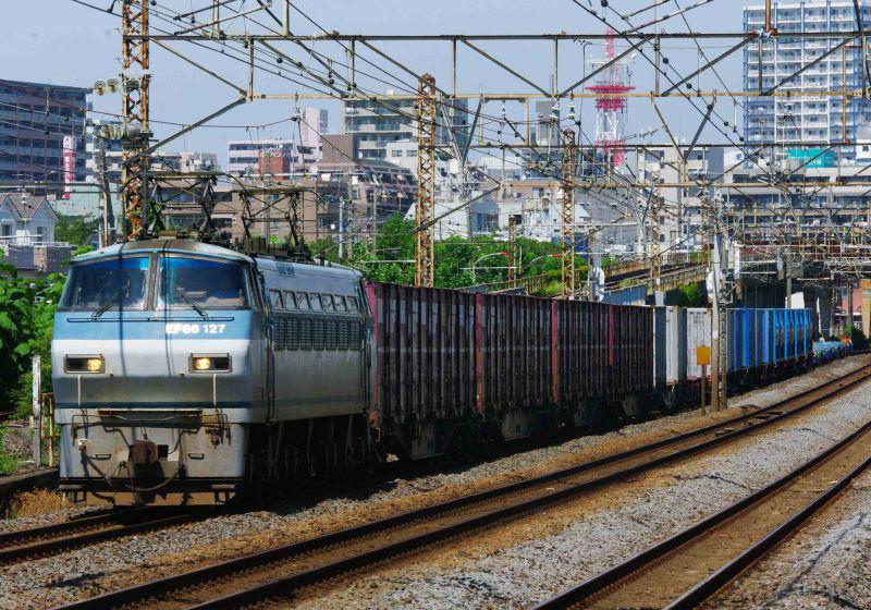 5095ㇾ EF66-100 東海道線 平塚 大磯 撮影地 貨物列車 撮影地