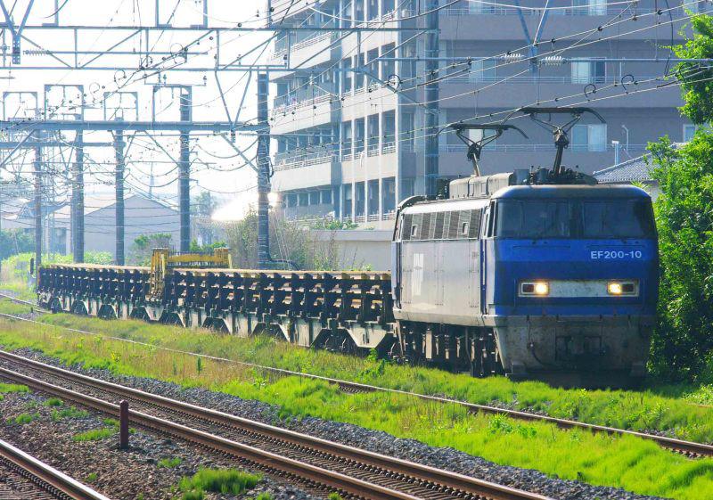 EF200 8090ㇾ 8097ㇾ 茅ヶ崎 平塚 貨物列車 東海道線 撮影地 レール輸送貨物