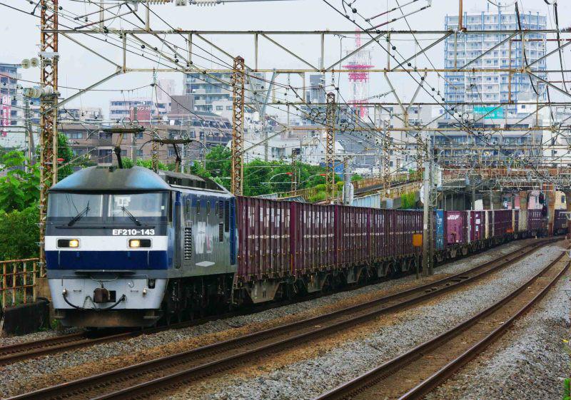 平塚 大磯 東海道線 貨物列車 撮影地 EF210 桃太郎 5075ㇾ