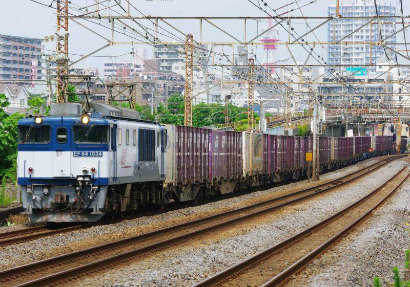 平塚 大磯 東海道線 貨物列車 撮影地 3075ㇾ EF64-1000