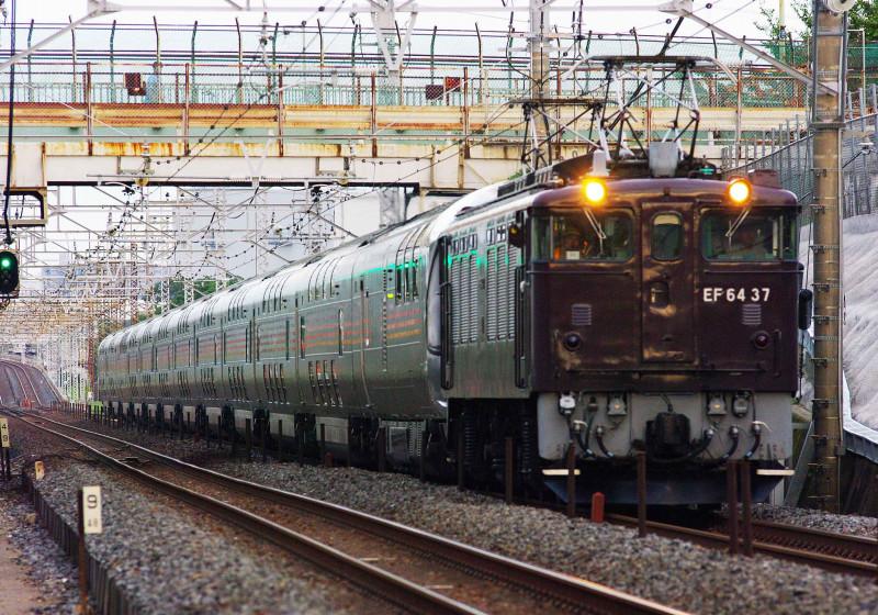 EF64-0 37号機 信州カシオペアクルーズ 武蔵野線 北朝霞 西浦和 撮影地 E26系 撮影地 茶釜