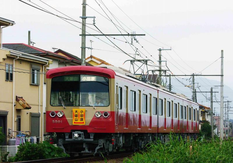 伊豆箱根鉄道 大雄山線 5000系 赤電 赤電カラー 穴部 飯田岡 撮影地