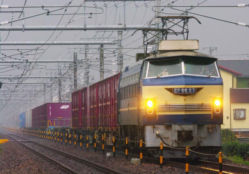 東海道線 沼津 片浜 EF66-0 ゼロロク 27号機 ニーナ 貨物列車 5095レ 撮影地